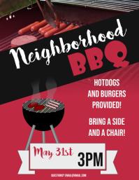 Neighborhood Bbq flyer