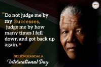 Nelson Mandela day Poster template