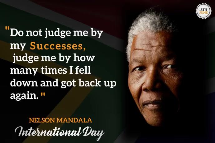 Nelson Mandela day 海报 template