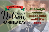 Nelson Mandela Day Etichetta template