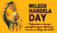 Nelson Mandela Day Etiqueta template