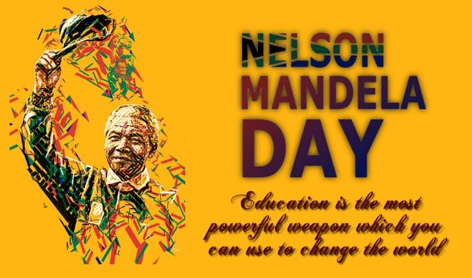 Nelson Mandela Day Tanda template