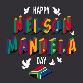 Nelson Mandela Day Template Pos Instagram