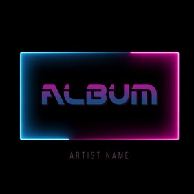 neon album cover video template