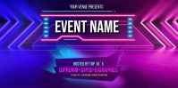 Neon Background Roll Up na Banner 3' × 6' template