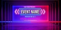 Neon Background Spanduk Gulir Atas 3' × 6' template