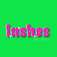 Neon Beauty Lash Makeup Logo Logotipo template