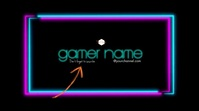 Neon Border Video Gamer Gaming Logo Cover template