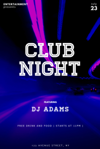 Neon Club Party flyer Template
