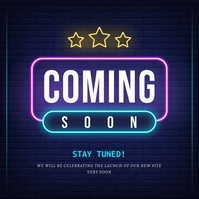 Neon Coming Soon Instagram Image template