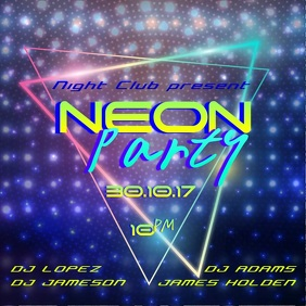 Neon Dance Party video Template