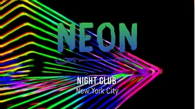 neon Pantalla Digital (16:9) template