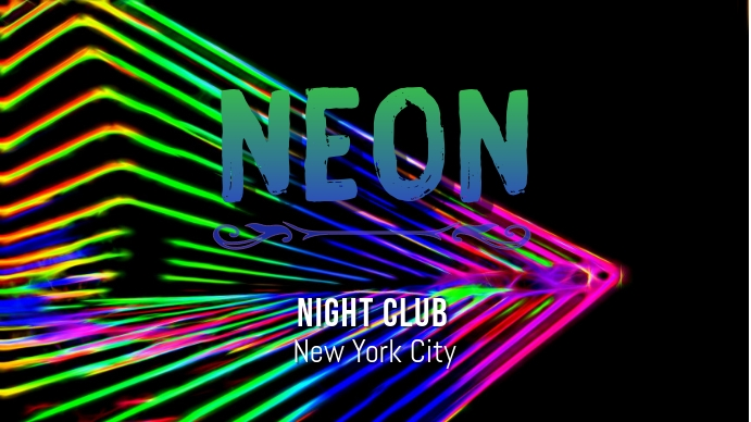 neon Digital na Display (16:9) template