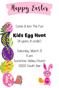 Neon Egg Hunt Poster template