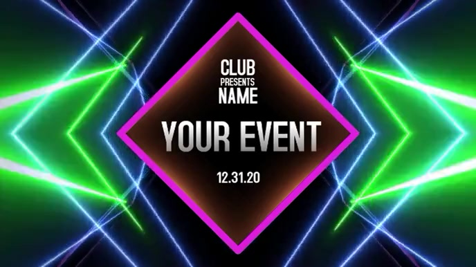 NEON EVENT Digital na Display (16:9) template