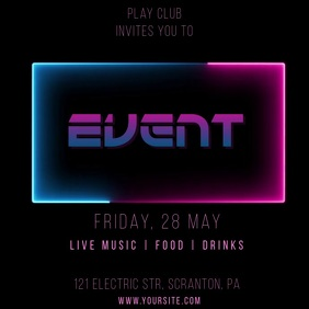 Neon Event Video Promo Ad