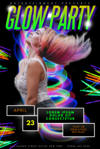 Neon Glow Part Flyer Template