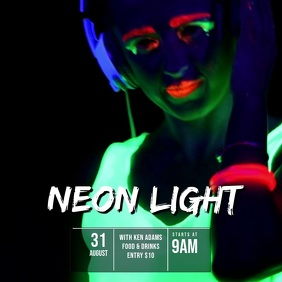 Neon glow Party Video Template