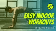 Neon Green Gradient Fitness Youtube Channel template