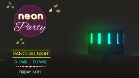NEON LIGHTS PARTY TEMPLATE