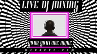Neon Live DJ Banner Video YouTube Channel Cover Photo template