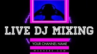 Neon Live DJ Channel Banner Video Foto di copertina del canale YouTube template