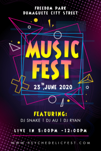 Neon Music Festival Electronic Concert Poster