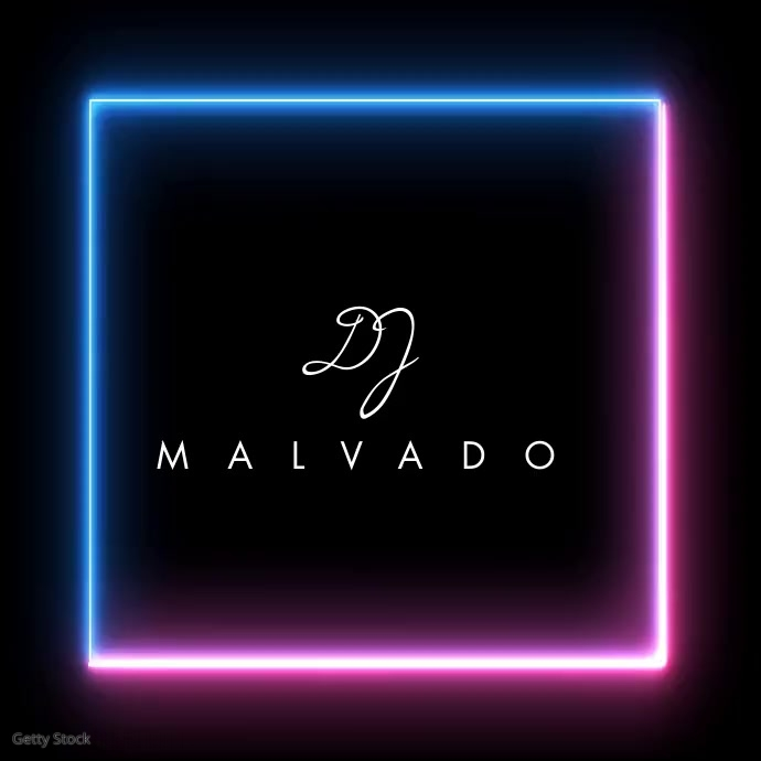 Neon Musician Producer Logo Video Logótipo template