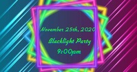Neon Party Facebook begivenhed cover template