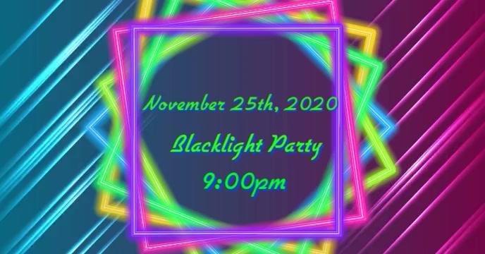 Neon Party Portada de evento de Facebook template