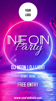 NEON PARTY Instagram-verhaal template