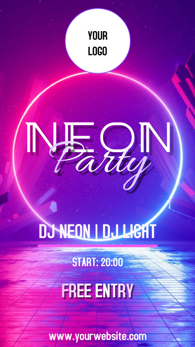 NEON PARTY Instagram Story template