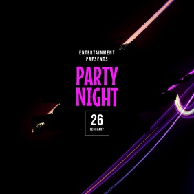 Neon Party Flyer Template