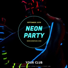 neon party video ad template