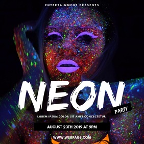 Neon Party Video Advertising Template