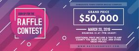 Neon Raffle Event Invitation Ticket