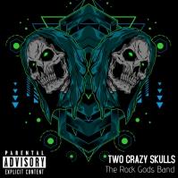 Neon Skulls Album Cover Pochette d'album template