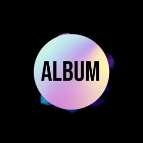 Neon smoke artistic video album art Okładka albumu template