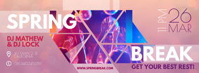 Neon Spring Party Banner Design Facebook-omslagfoto template