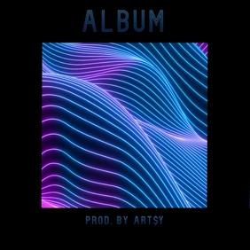 Neon square album cover video instagram ad