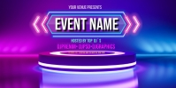Neon Stage Background Roll Up na Banner 3' × 6' template