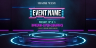 Neon Stage Background Roll Up Banner 3' × 6' template