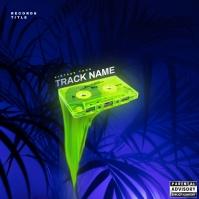 Neon tape Album Cover Art Capa de álbum template