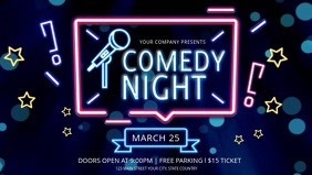 Neon Themed Comedy Night Facebook Cover Video