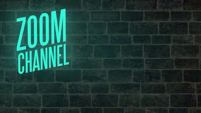 Neon Title Channel Zoom Video Background Pagtatanghal (16:9) template
