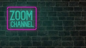 Neon your channel zoom meeting background Presentation (16:9) template