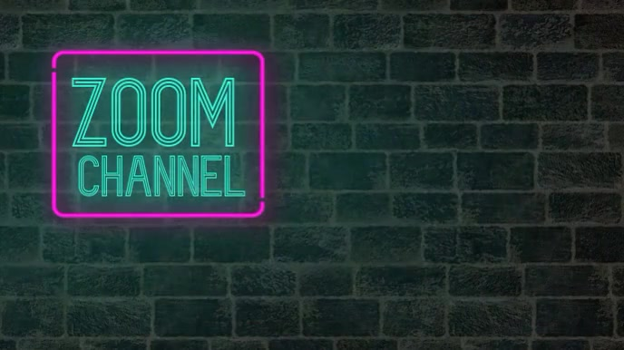 Neon your channel zoom meeting background 演示(16:9) template