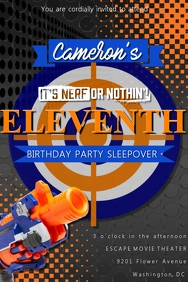 Nerf Birthday Invitation