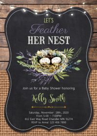 Nest baby shower party invitation