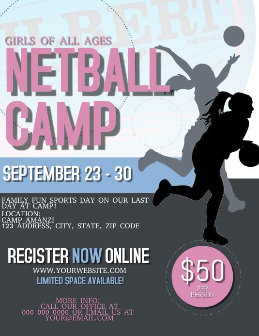 Netball Camp Flyer Template